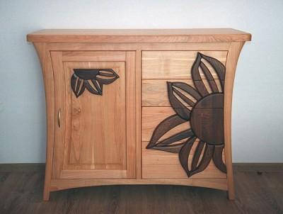 komoda drewniana do sypialni. #3163