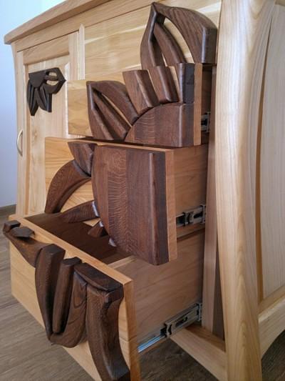komoda z drewna unikatowa. #3163