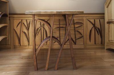 drewniane biurko unikatowe. #3173