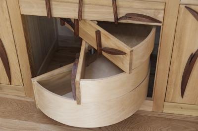 szuflady polokragle z drewna. #3174
