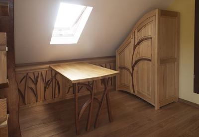 szafa biurko unikatowe drewniane. #3176