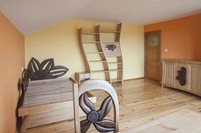 meble z drewna na wymiar do sypialni łóżko #3181
