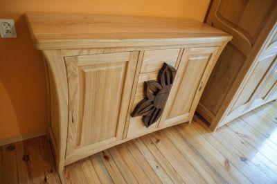 unikatowa na wymiar komoda drewniana dębowa #3184