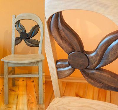 drewniane dębowe krzesło do biurka #31892