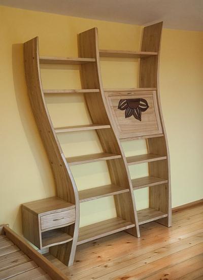 drewniany regał na książki #3188