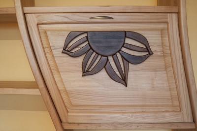 dębowy detal regału z drewna #3189