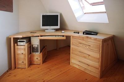 meble-z-drewna-jesionowe-biurko #4041