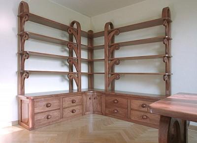 regał-drewniany-do-gabinetu-na książki #4061