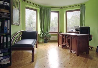 biurko-drewniane-sofa-tapicerowana-dębowa #4071