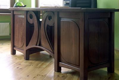 meble-dębowe-do-gabinetu-biurko #4073