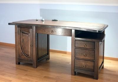 biurko-drewniane-dębowe #4092