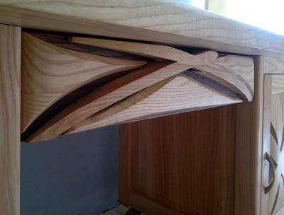 biurko-z-drewna-unikatowe #4115-1