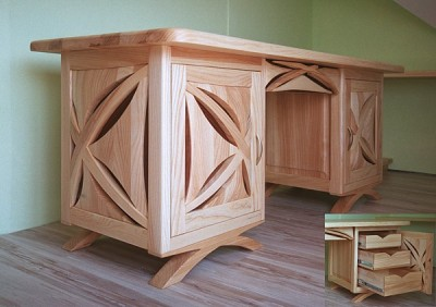 biurko-drewniane-jesionowe #4115