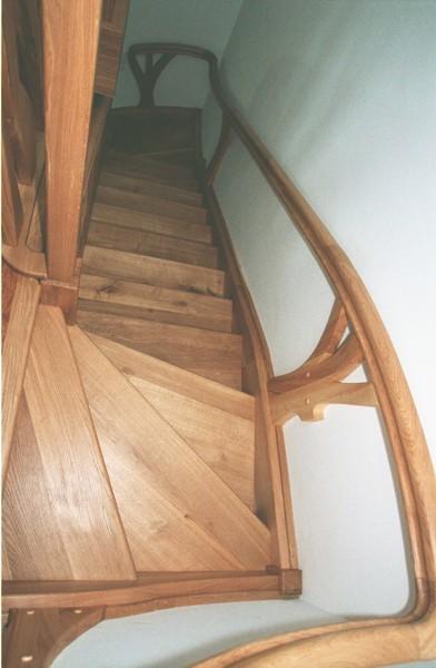 schody drewniane zabiegowe artystyczne na wymiar. #5093