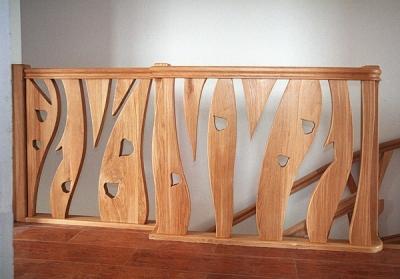 Meble drewniane schody dębowe unikatowa artystyczna barierka. #5094