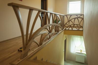 barierka debowa schody #5101