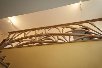 barierka drewniana artystyczna #5102