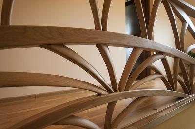 barierka drewniana schody dębowe #5106