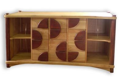 Meble drewniane artystyczne unikatowe oryginalne, szafka rtv na winyle, na wymiar. #6081