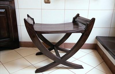 Siedzisko drewniane do łazienki z drewna dębowego oryginalne unikatowe. #6163
