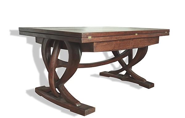 6171 - Stół drewniany dębowy rozkładany dizajnerski unikatowy na wymiar do salonu.