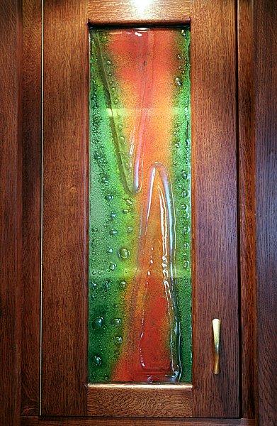 6193 - Meble drewniane dębowe artystyczne fusing.