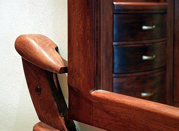 6194 - Meble z drewna na wymiar unikatowe dizajnerskie lustro.