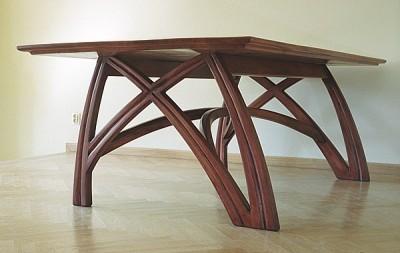 stół dębowy do salonu unikatowy artystyczny na wymiar dizajnerski. #6221