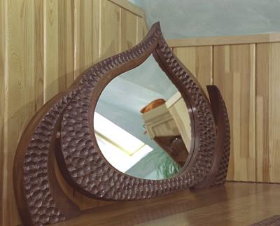 Meble drewniane unikatowe, toaletka z lustrem projekt autorski wykonanie ręczne. #6232