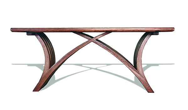 6241 - Meble drewniane, ława dębowa do salonu, meble artystyczne unikatowe autorskie na wymiar.