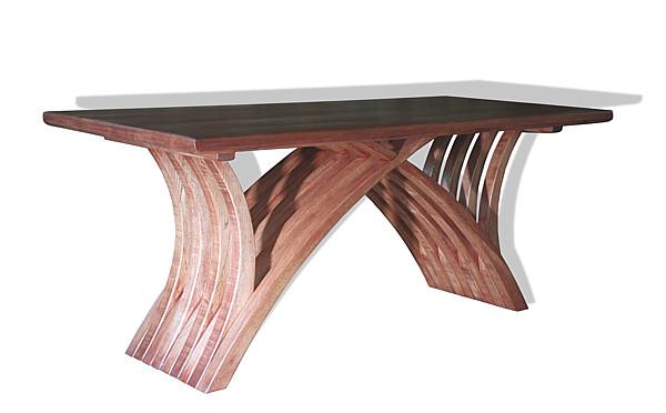 6242 - Meble z drewna artystyczna ława dębowa unikatowa.