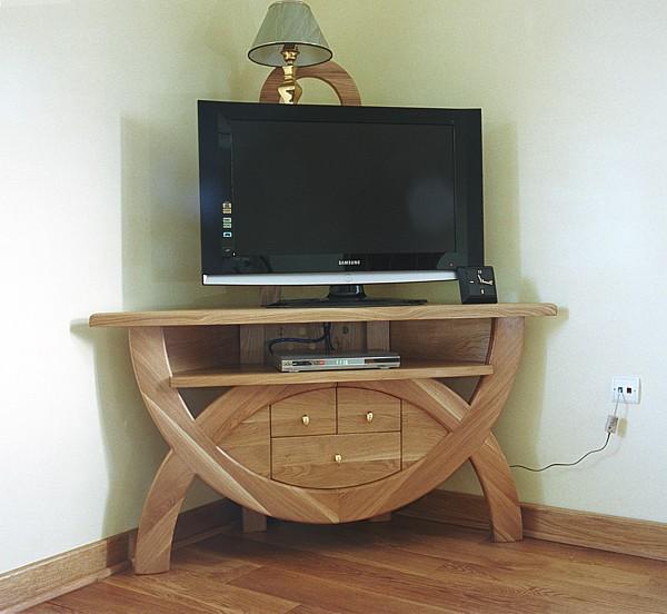 6251 - Meble z drewna stolik rtv unikatowy oryginalny na wymiar autorski.