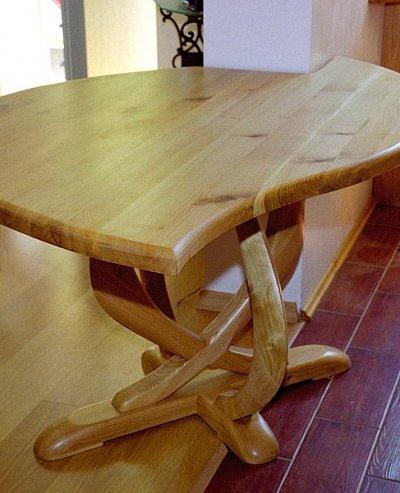 Stół z drewna, unikatowy oryginalny do jadalni artystyczny autorski projekt. #6261