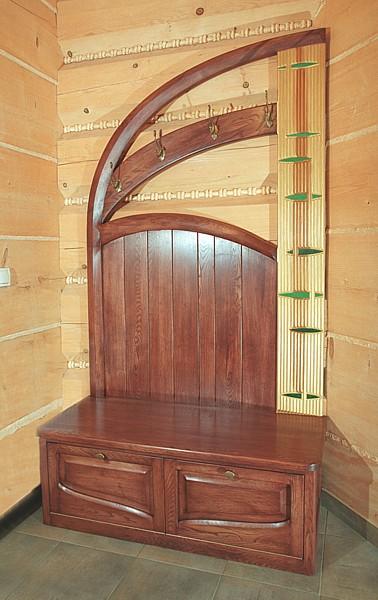 6273 - Meble drewniane do przedpokoju szafka na buty dębowa artystyczna, unikatowa autorski projekt.