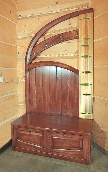 Meble drewniane do przedpokoju szafka na buty dębowa artystyczna, unikatowa autorski projekt. #6273