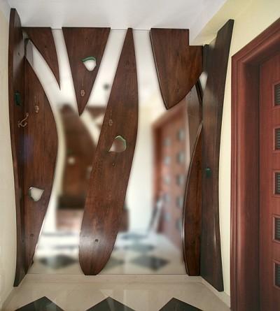 Ramy lustra drewniane na zamówienie, unikatowe artystyczne oryginalne, do przedpokoju. #6291