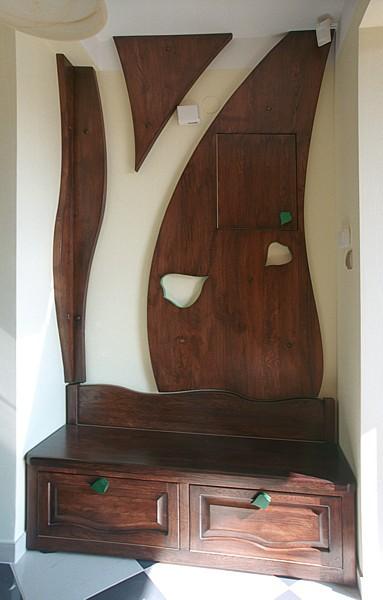 Meble z drewna unikatowa szafka na buty z drewna dębowego na wymiar, do przedpokoju. #6292