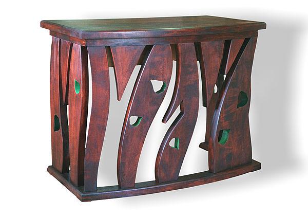 6301 - Meble drewniane unikatowe artystyczne, konsola drewniana.