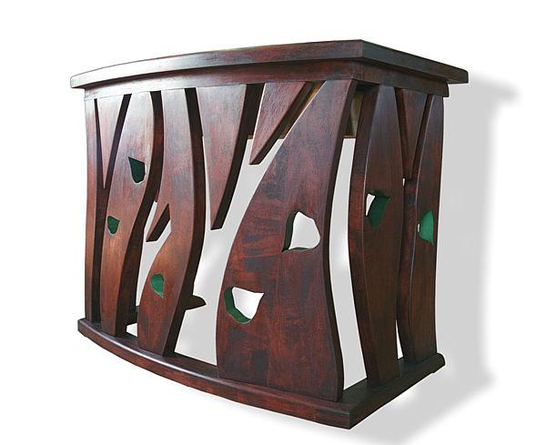 6302 - Meble z drewna na wymiar, stolarstwo meblowe, konsola artystyczna unikatowa.