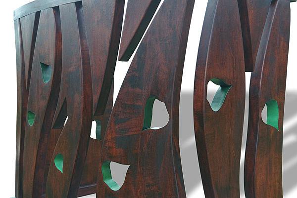 6303 - Meble drewniane artystyczne na zamówienie, stolarstwo artystyczne konsola na wymiar.