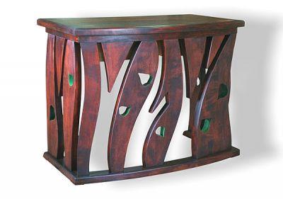 Meble drewniane unikatowe artystyczne, konsola drewniana. #6301