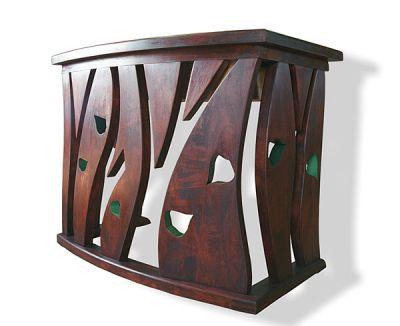 Konsola z drewna na wymiar, stolarstwo meblowe, artystyczna unikatowa. #6302