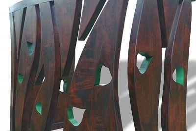 Meble drewniane artystyczne na zamówienie, stolarstwo artystyczne konsola na wymiar. #6303