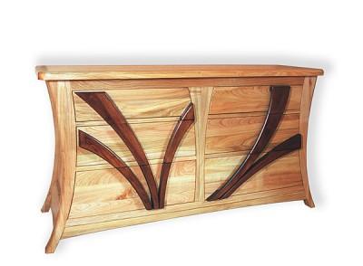 Komoda drewniana unikatowa artystyczna do salonu, meble autorskie. #6311