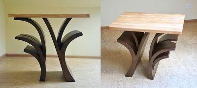 unikatowy drewniany stolik kawowy. #6322