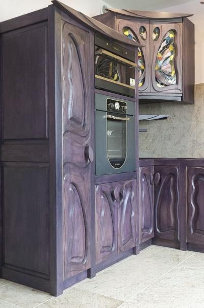 11616 Zabudowa kuchni z drewna