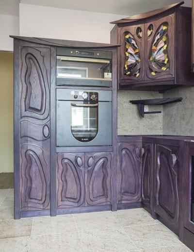 11617 Drewniana dębowa zabudowa kuchni