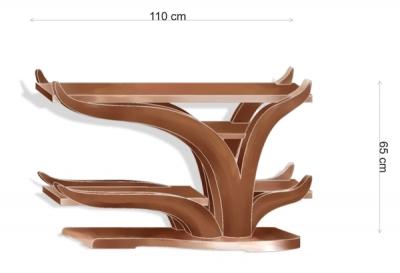 Meble z drewna do salonu projekt szafki audiio rtv - v4