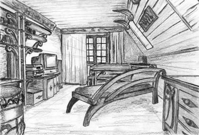 Projekt mebli drewnianych unikatowych artystycznych do salonu, na wymiar.