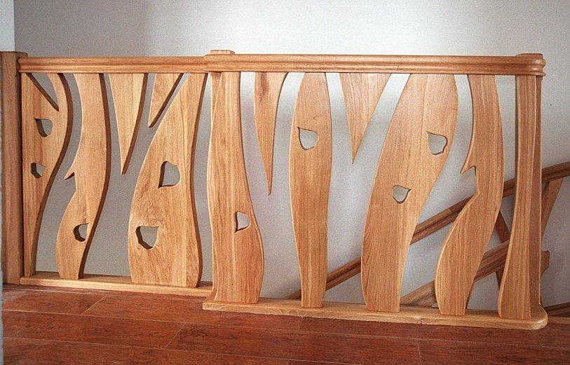 schody drewniane dębowe, barierka drewniana, brzeziniak